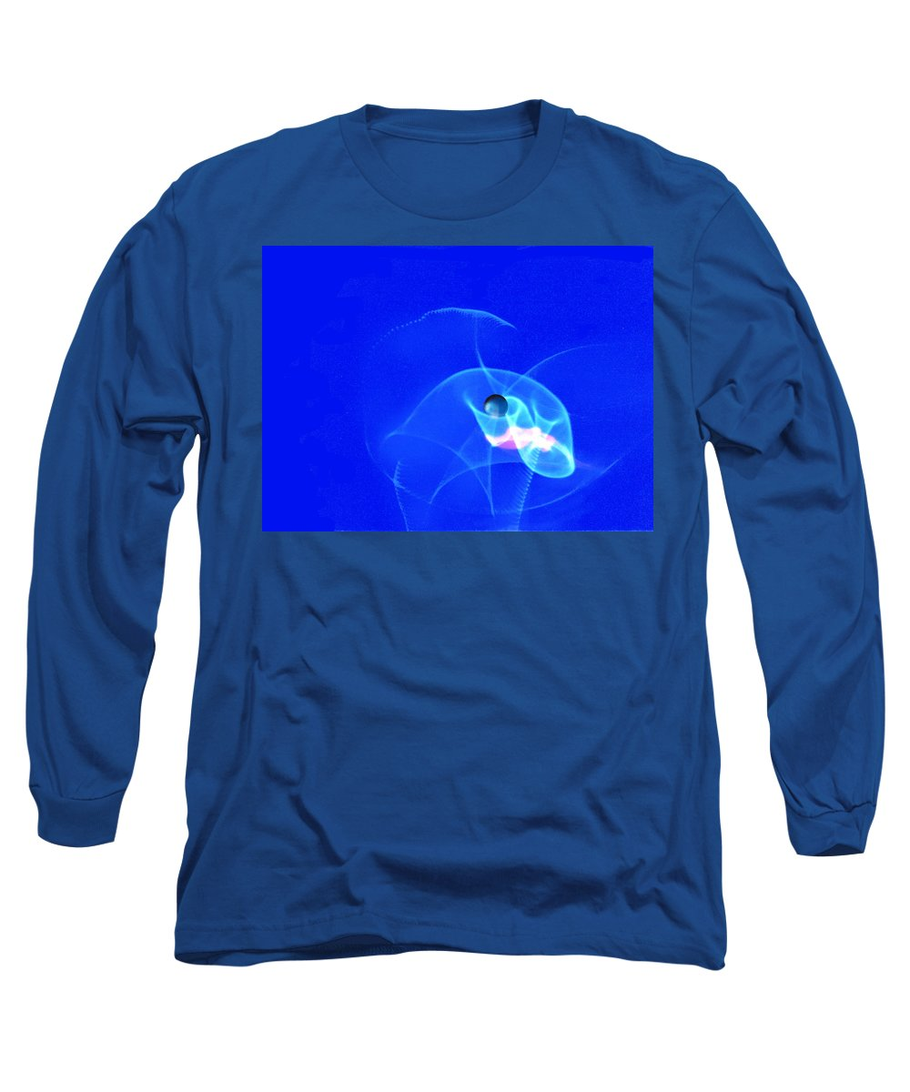 Abstract Long Sleeve T-Shirt featuring the photograph Apparition Pearl by Steve Karol