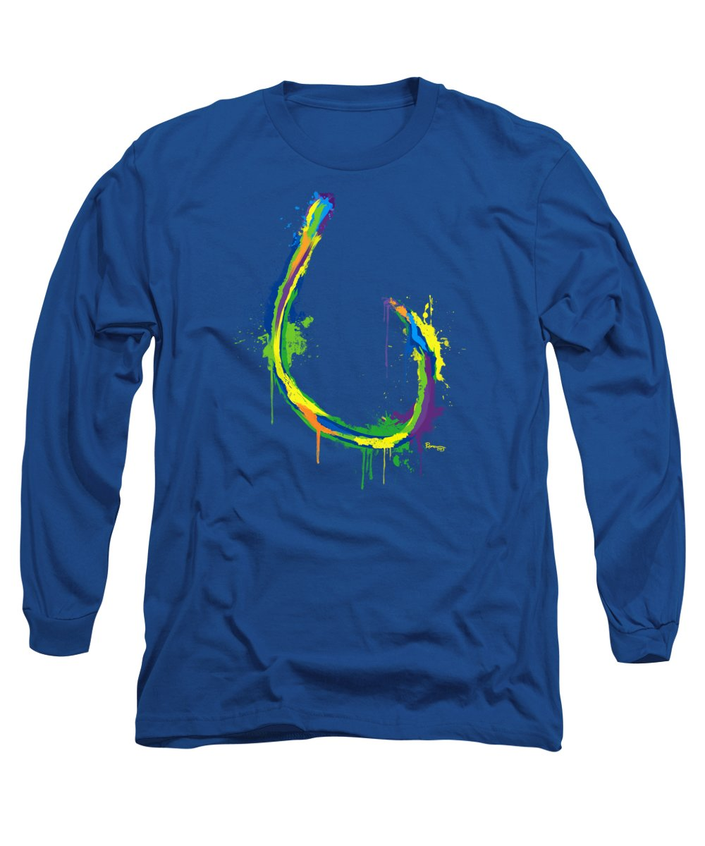 Circle Hook Long Sleeve T-Shirt featuring the digital art Circle Hook by Kevin Putman