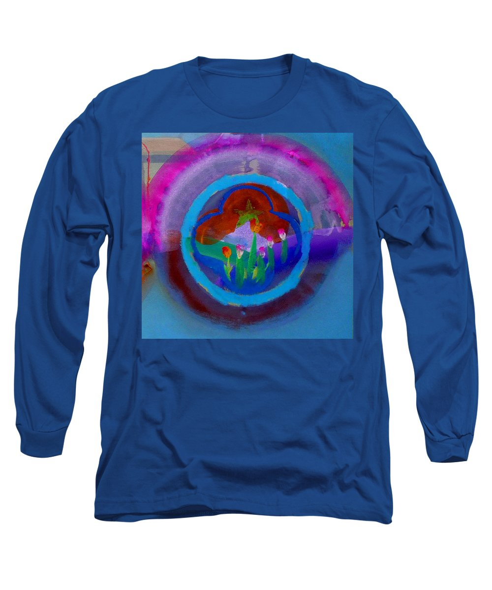 Love Long Sleeve T-Shirt featuring the painting Blue Embrace by Charles Stuart