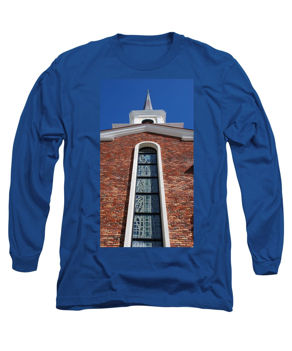 Architecture Long Sleeve T-Shirt featuring the photograph Brick Church by Rob Hans