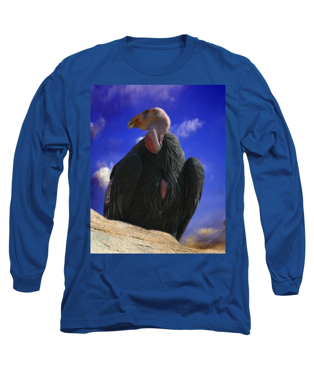 California Condor Long Sleeve T-Shirt featuring the photograph California Condor by Anthony Jones