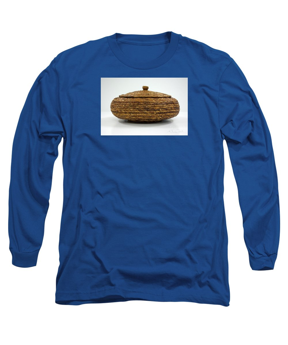 Banana Long Sleeve T-Shirt featuring the mixed media Circular Bound by Kerryn Madsen-Pietsch