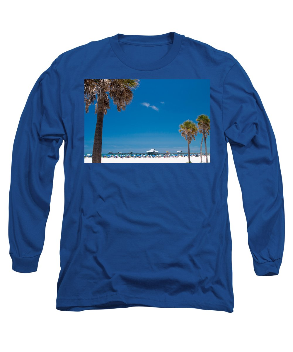 3scape Photos Long Sleeve T-Shirt featuring the photograph Clearwater Beach by Adam Romanowicz