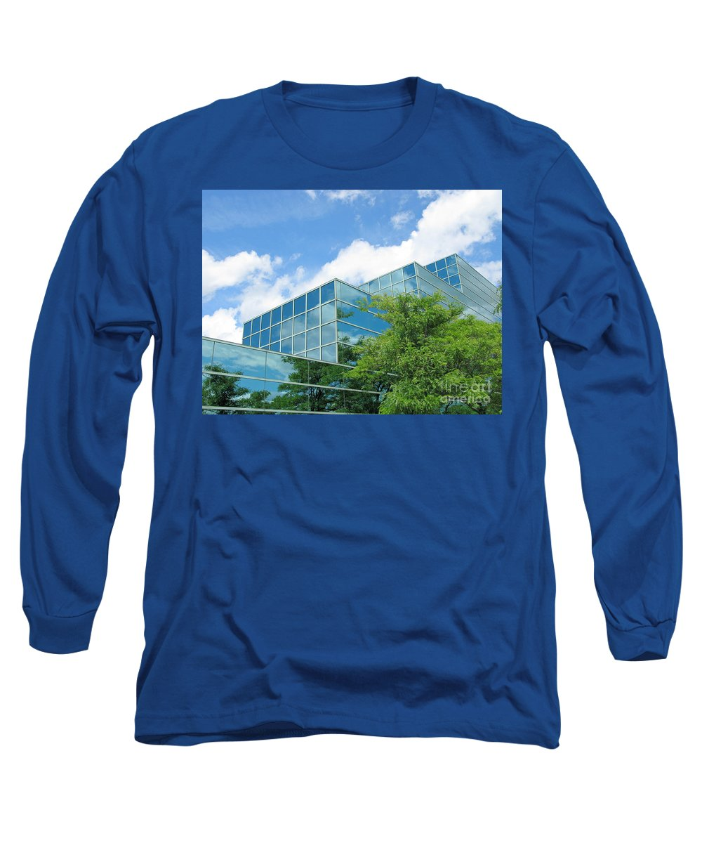 Architecture Long Sleeve T-Shirt featuring the photograph Climbing Skyward by Ann Horn