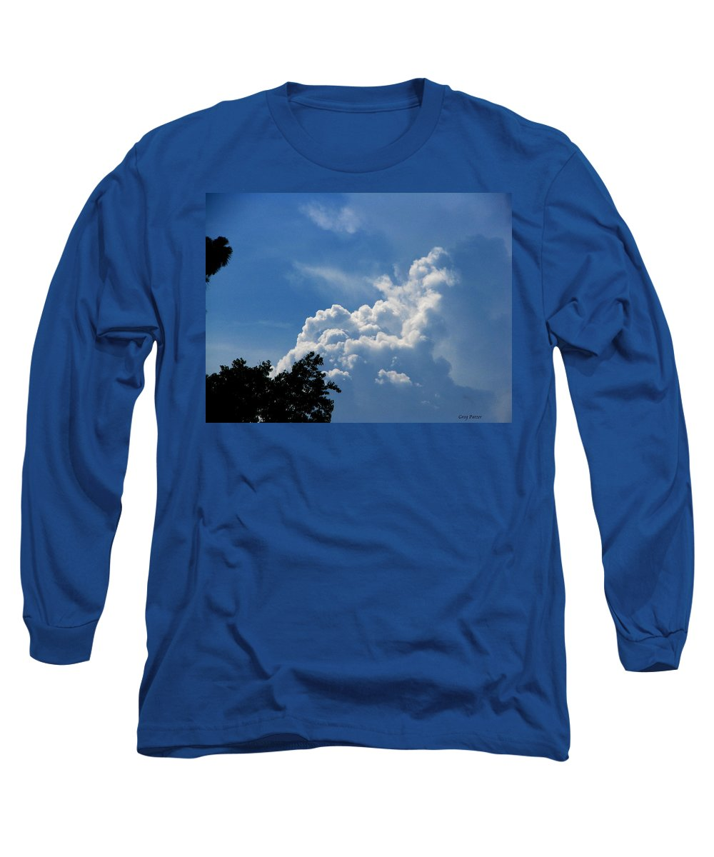 Patzer Long Sleeve T-Shirt featuring the photograph Clouds Of Art by Greg Patzer