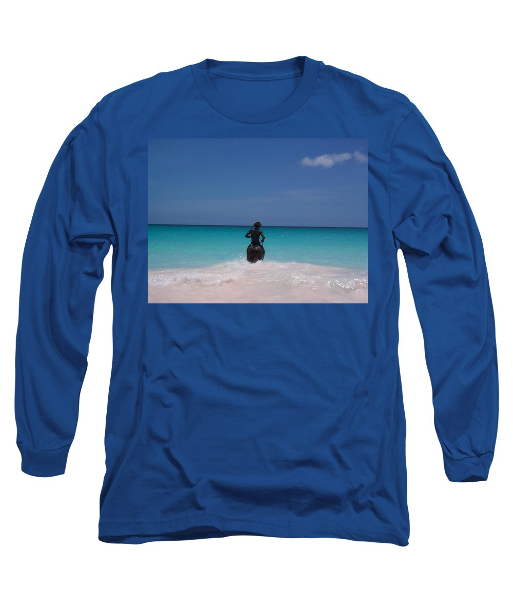 Charity Long Sleeve T-Shirt featuring the photograph Cool Off Man by Mary-Lee Sanders