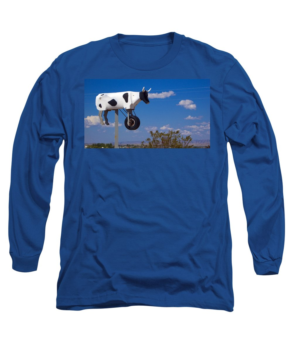 Cow Long Sleeve T-Shirt featuring the photograph Cow Power by Skip Hunt