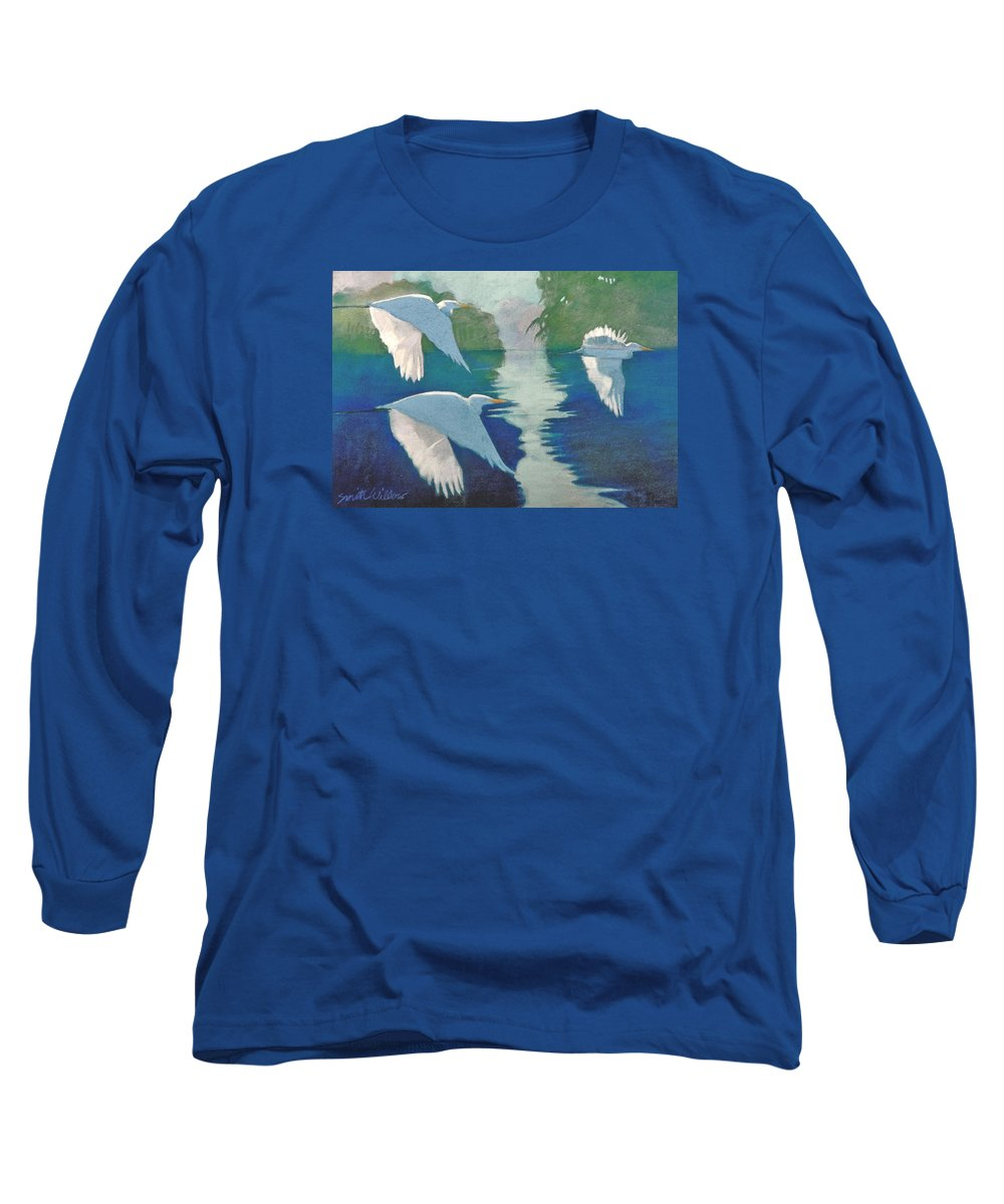 Birds Long Sleeve T-Shirt featuring the painting Dawn Patrol by Neal Smith-Willow