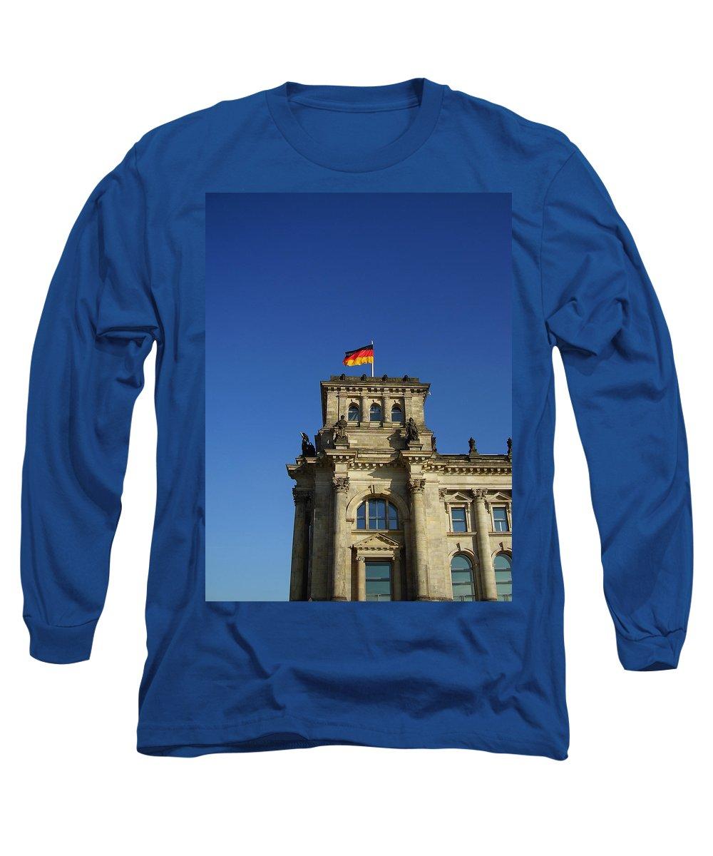 Deutscher Bundestag Long Sleeve T-Shirt featuring the photograph Deutscher Bundestag II by Flavia Westerwelle