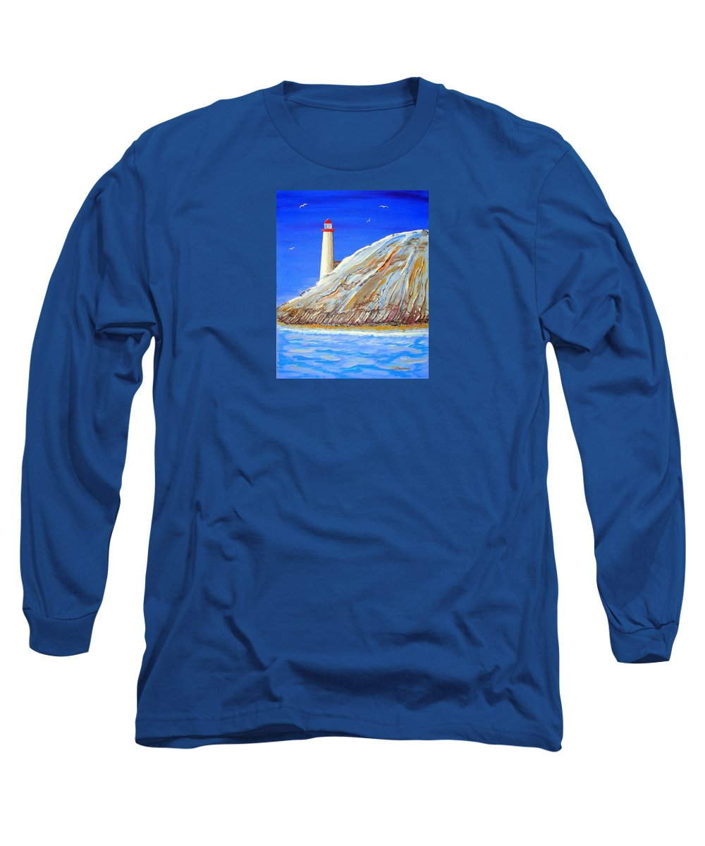 Impressionist Painting Long Sleeve T-Shirt featuring the painting Entering The Harbor by J R Seymour