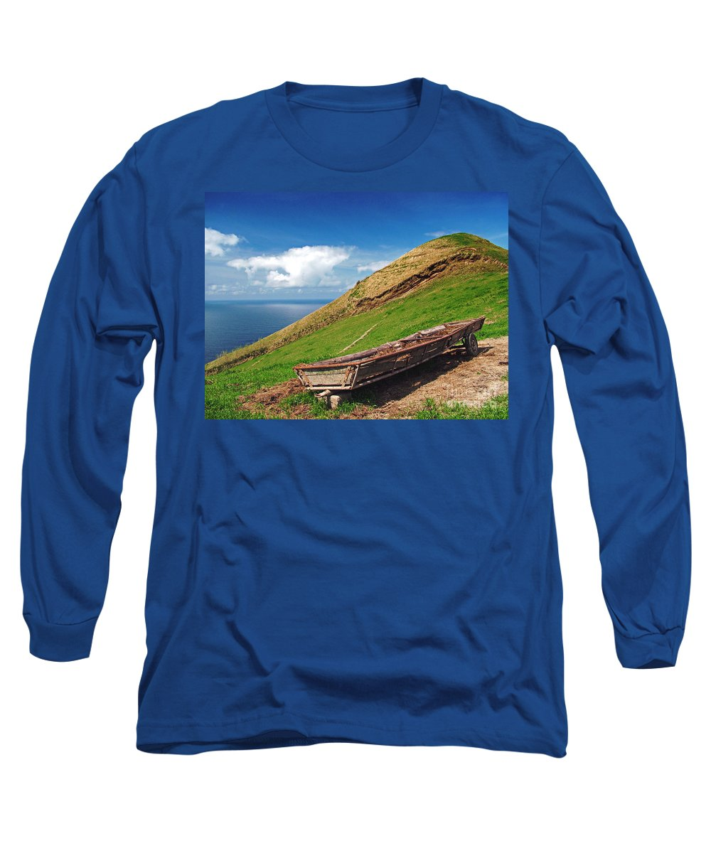 Europe Long Sleeve T-Shirt featuring the photograph Farming In Azores Islands by Gaspar Avila