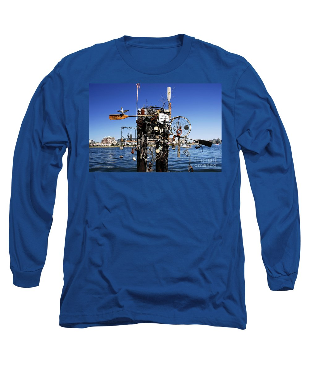 Fisherman Long Sleeve T-Shirt featuring the photograph Fisherman's Wharf by David Lee Thompson
