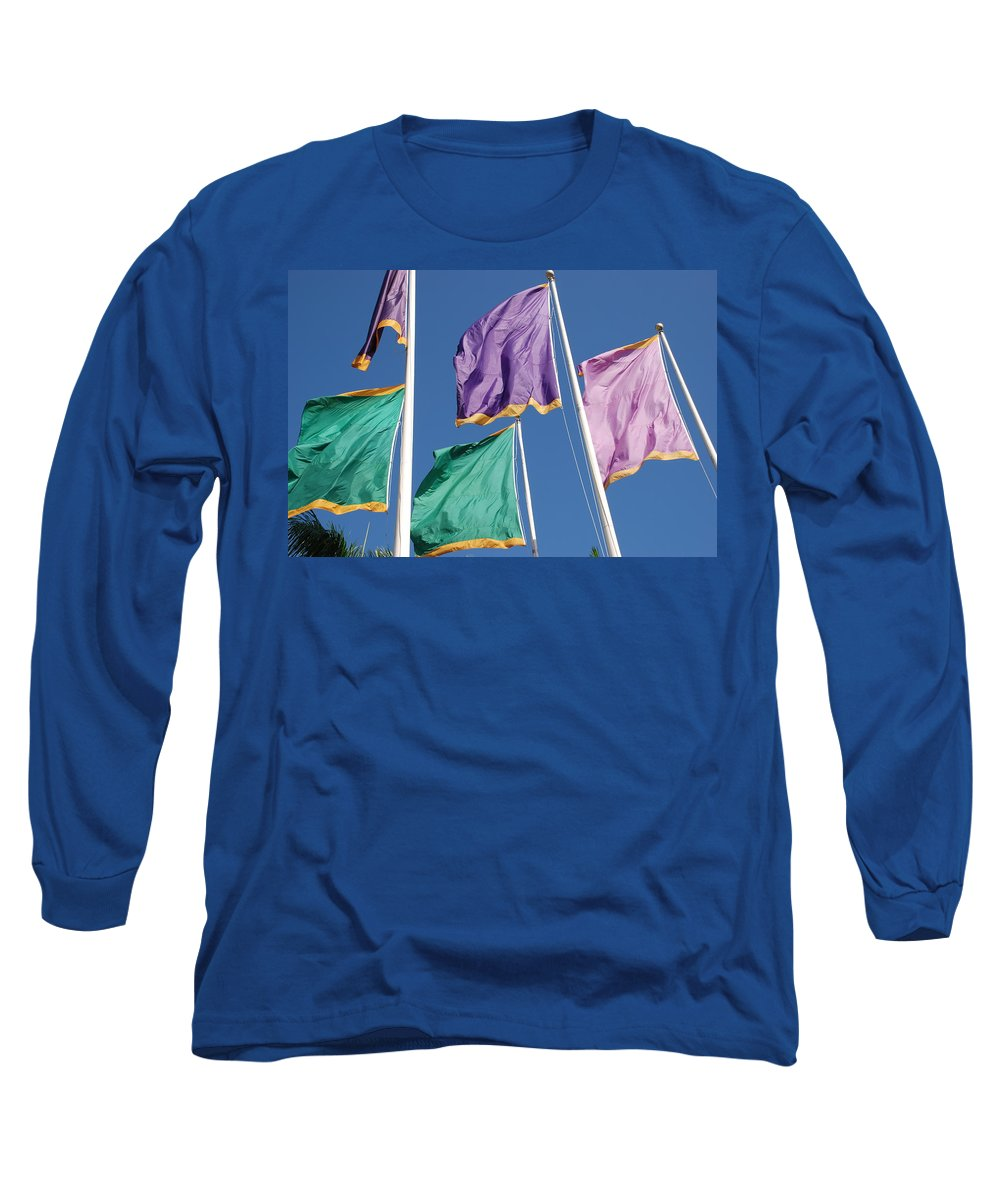 Flags Long Sleeve T-Shirt featuring the photograph Flags by Rob Hans
