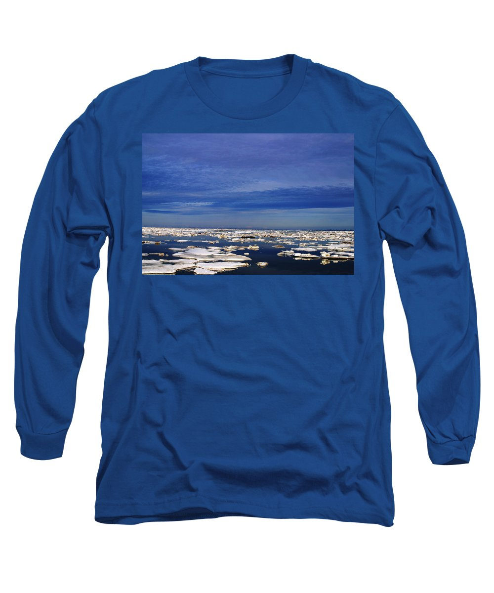 Alaska Long Sleeve T-Shirt featuring the digital art Floating Ice by Anthony Jones