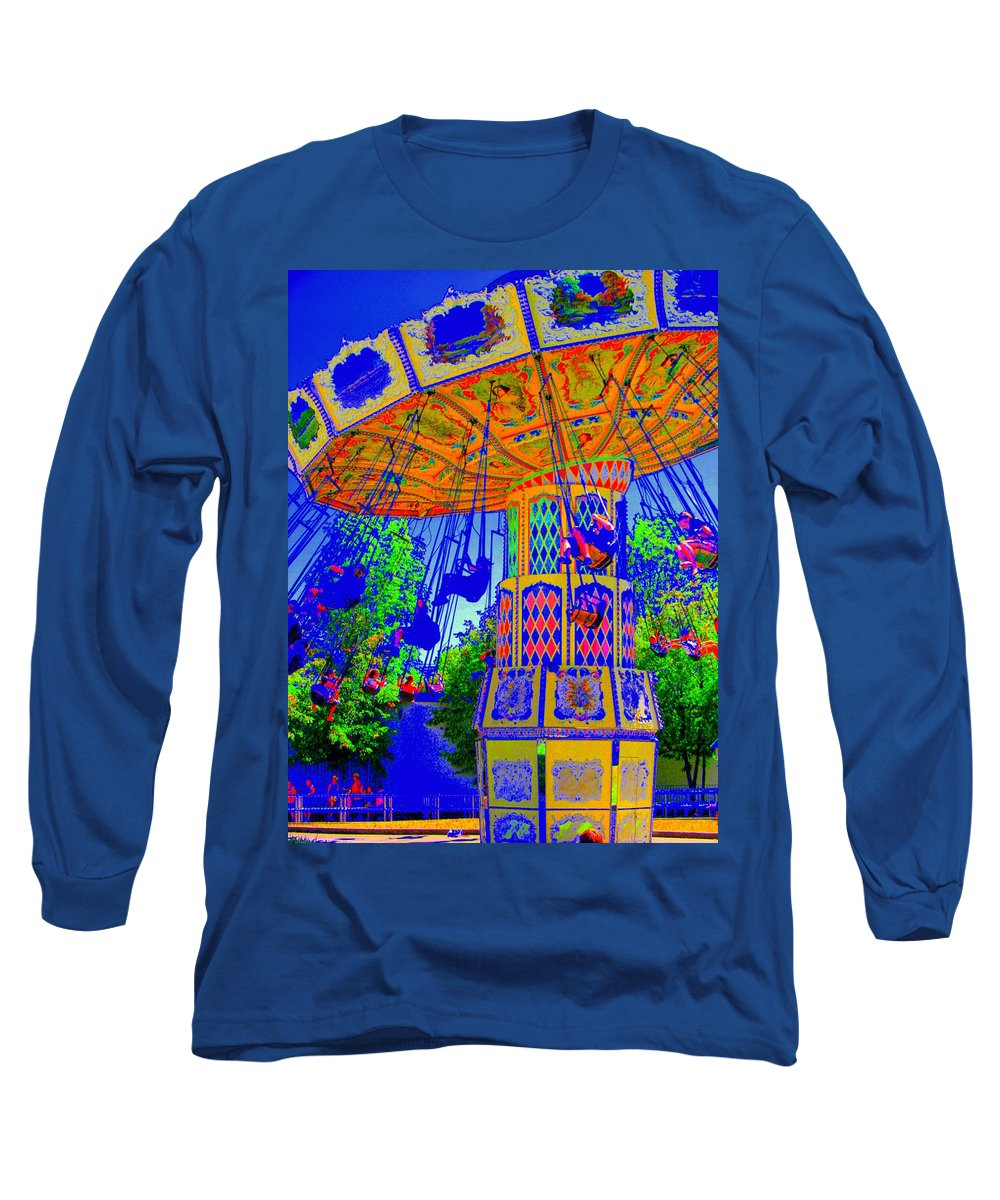 Flying High Long Sleeve T-Shirt featuring the photograph Flying High by Ed Smith