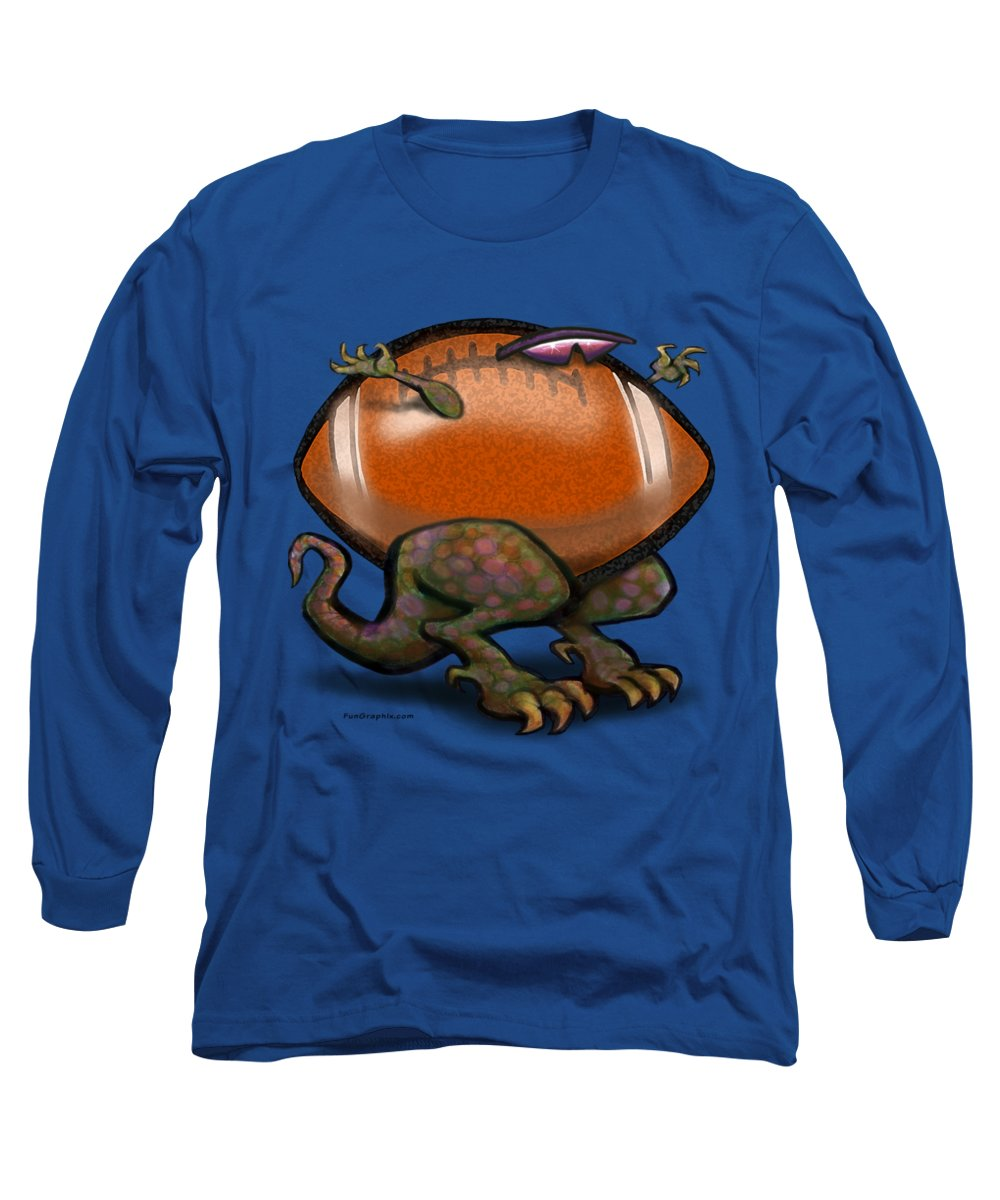 Football Long Sleeve T-Shirt featuring the digital art Football Beast by Kevin Middleton