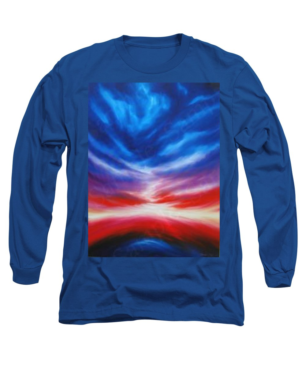 Tempest Long Sleeve T-Shirt featuring the painting Genesis IIi by James Christopher Hill