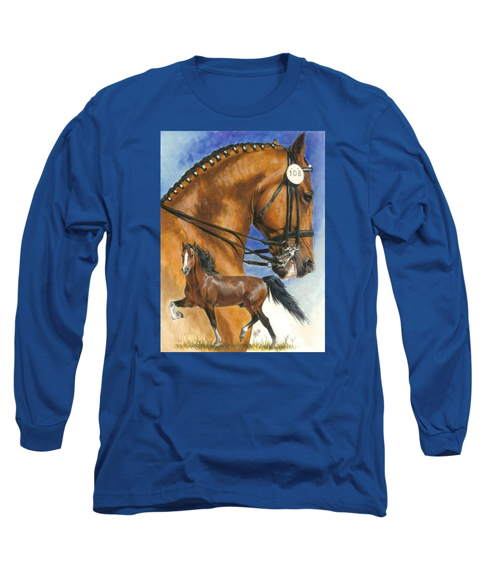 Hackney Long Sleeve T-Shirt featuring the mixed media Hackney by Barbara Keith