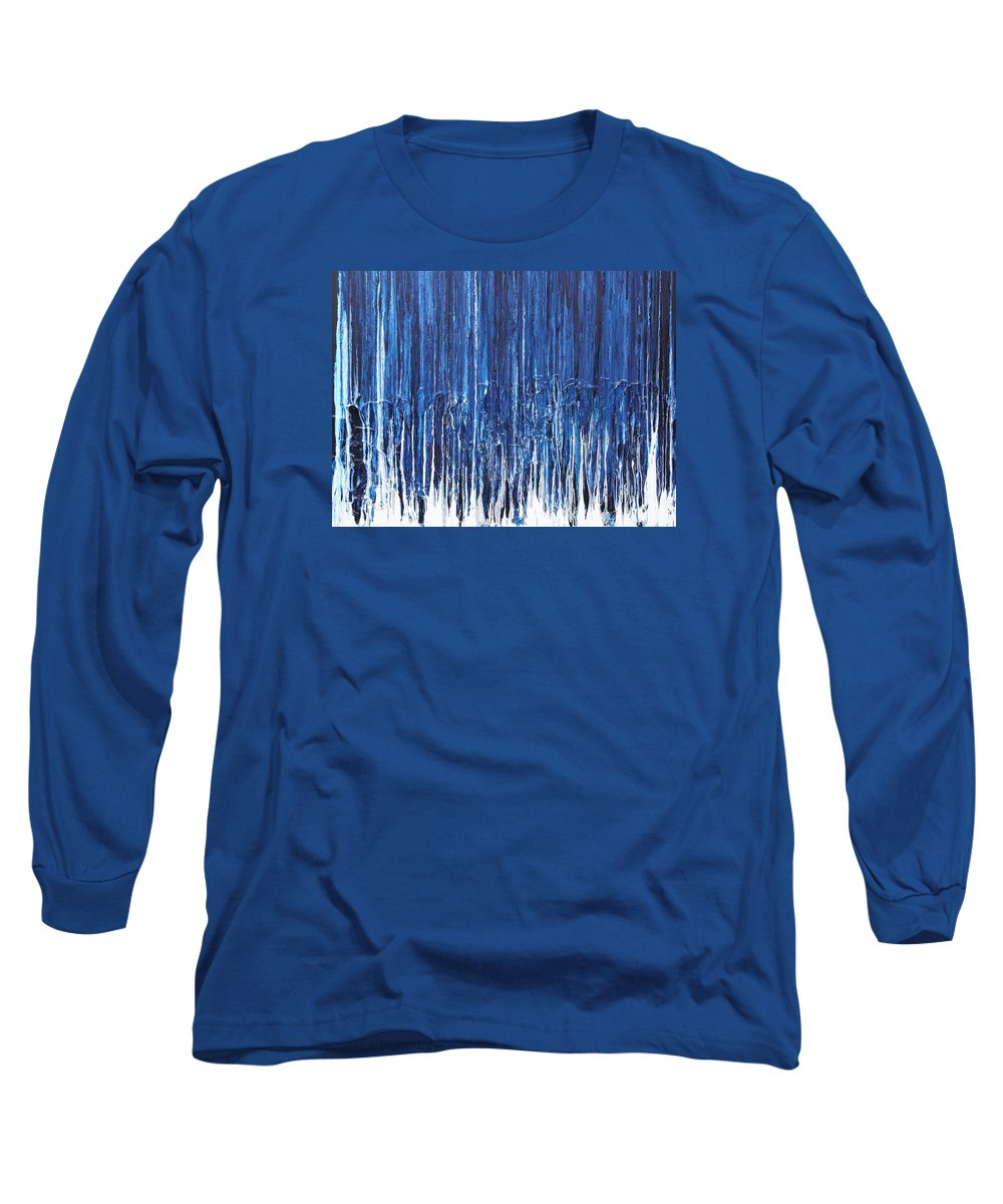 Fusionart Long Sleeve T-Shirt featuring the painting Indigo Soul by Ralph White