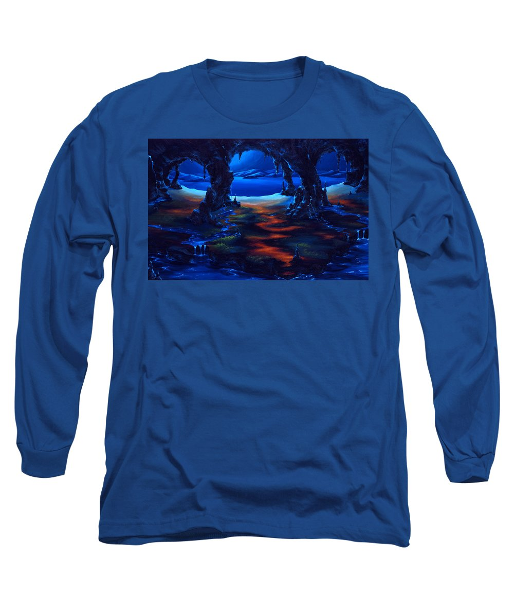 Textured Painting Long Sleeve T-Shirt featuring the painting Living Among Shadows by Jennifer McDuffie