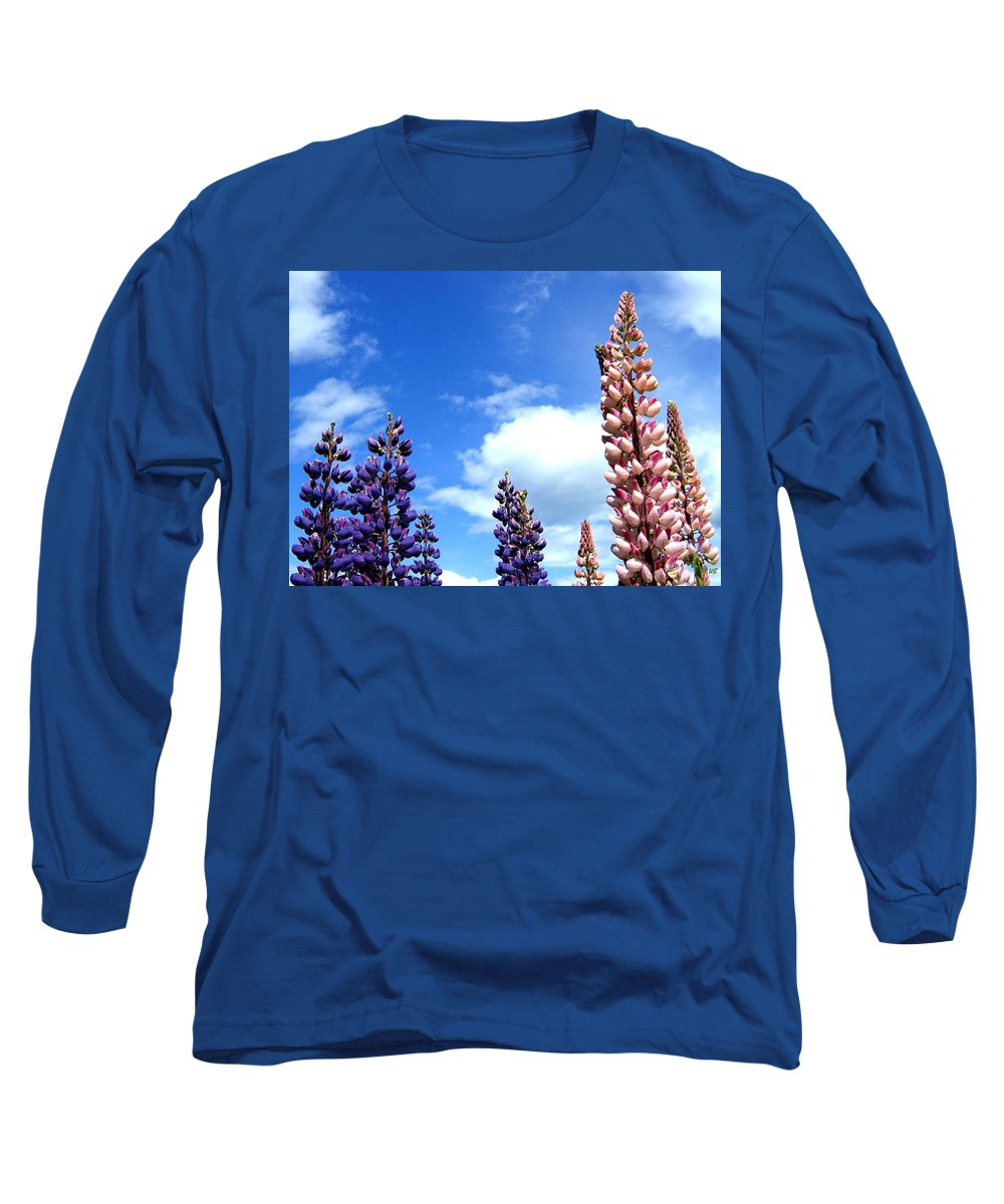 Lupins Long Sleeve T-Shirt featuring the photograph Lupins by Will Borden