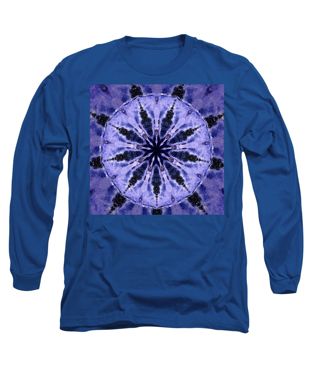 Mandala Long Sleeve T-Shirt featuring the digital art Mandala Ocean Wave by Nancy Griswold