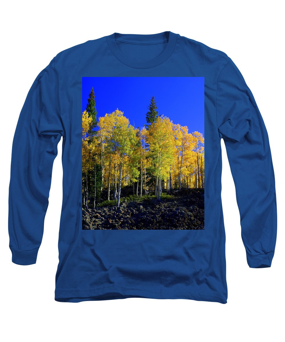 Fall Colors Long Sleeve T-Shirt featuring the photograph Nevada Fall by Marty Koch