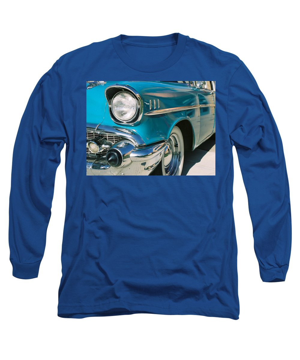 Chevy Long Sleeve T-Shirt featuring the photograph Old Chevy by Steve Karol