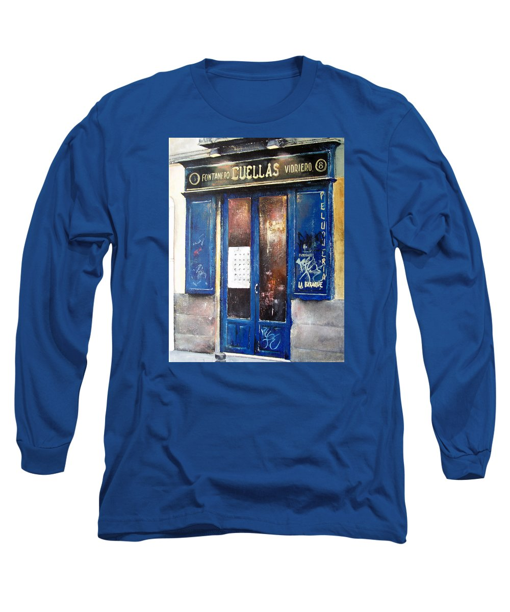 Old Long Sleeve T-Shirt featuring the painting Old Plumbing-madrid by Tomas Castano