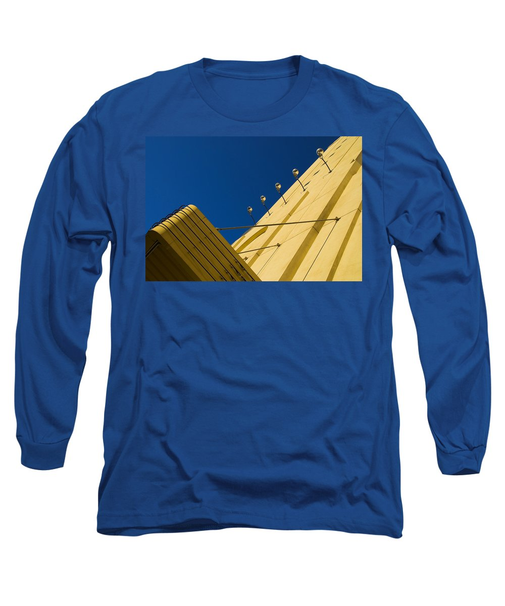 Electric Long Sleeve T-Shirt featuring the photograph Old School Vegas by Skip Hunt