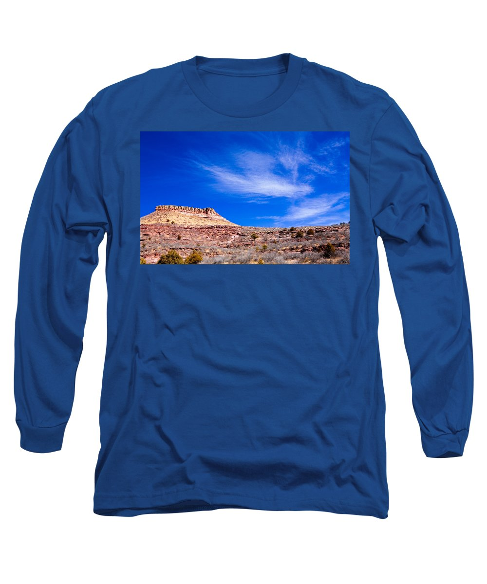 Red Long Sleeve T-Shirt featuring the photograph Outside Lyons Colorado by Marilyn Hunt