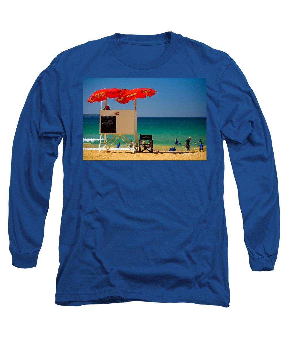 Palm Beach Sun Sea Sky Beach Umbrellas Long Sleeve T-Shirt featuring the photograph Palm Beach Dreaming by Sheila Smart Fine Art Photography