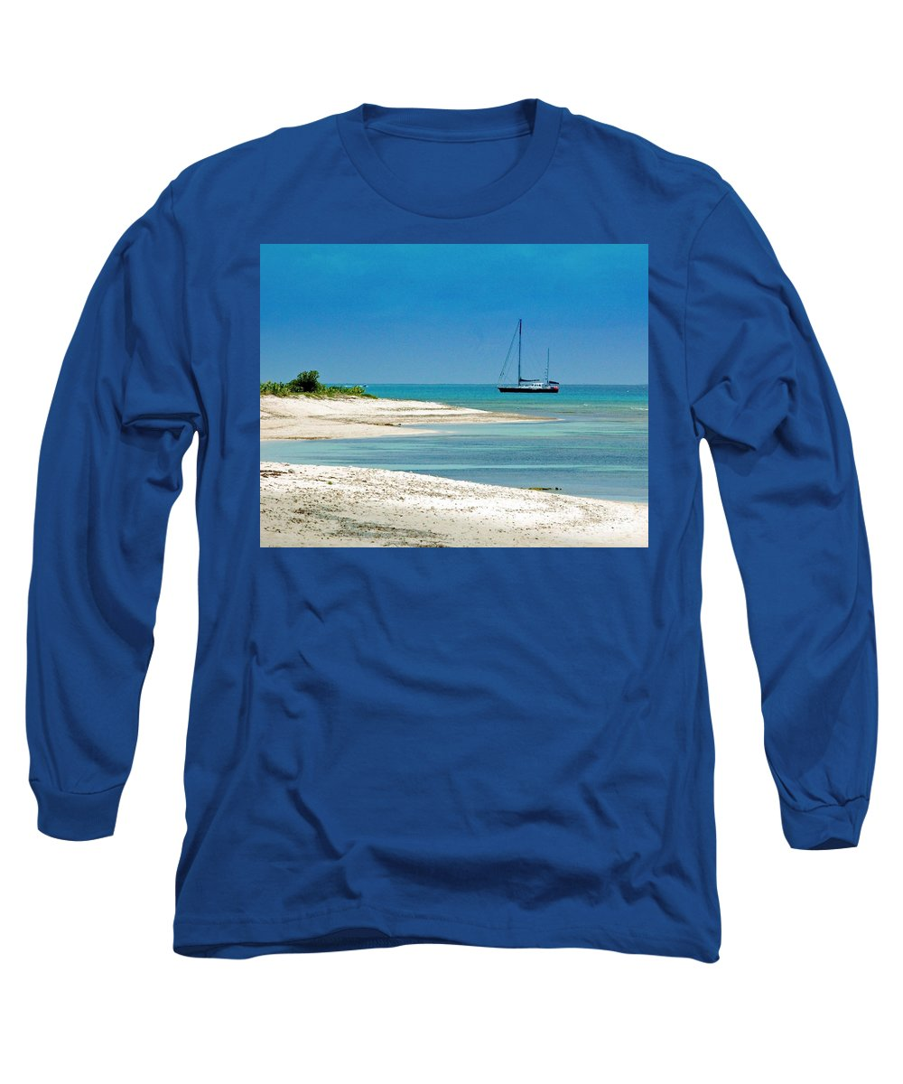 Boat Long Sleeve T-Shirt featuring the photograph Paradise Found by Debbi Granruth