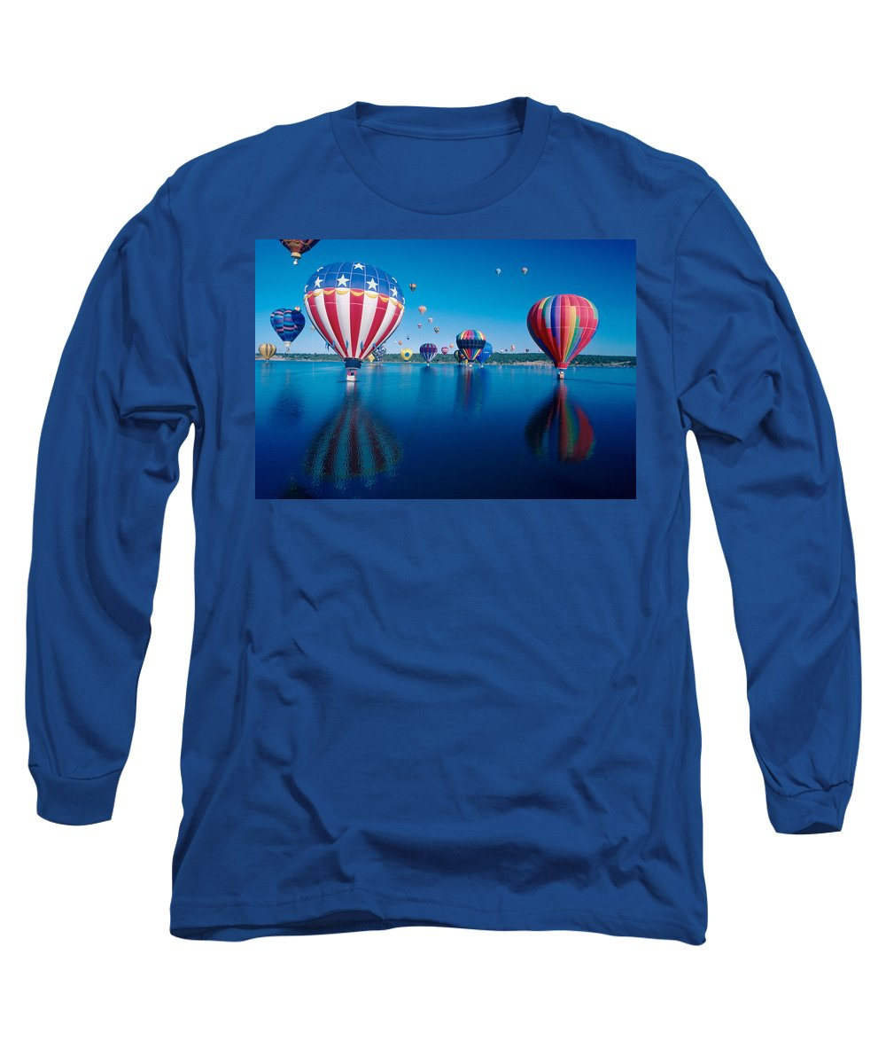 Hot Air Balloons Long Sleeve T-Shirt featuring the photograph Patriotic Hot Air Balloon by Jerry McElroy