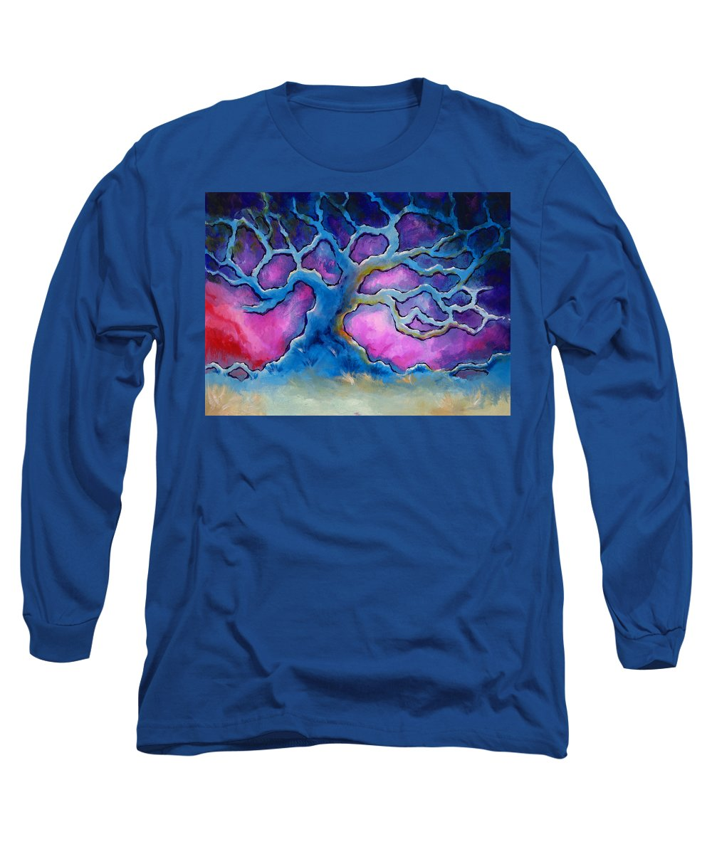 Landscape Long Sleeve T-Shirt featuring the painting Ria by Jennifer McDuffie