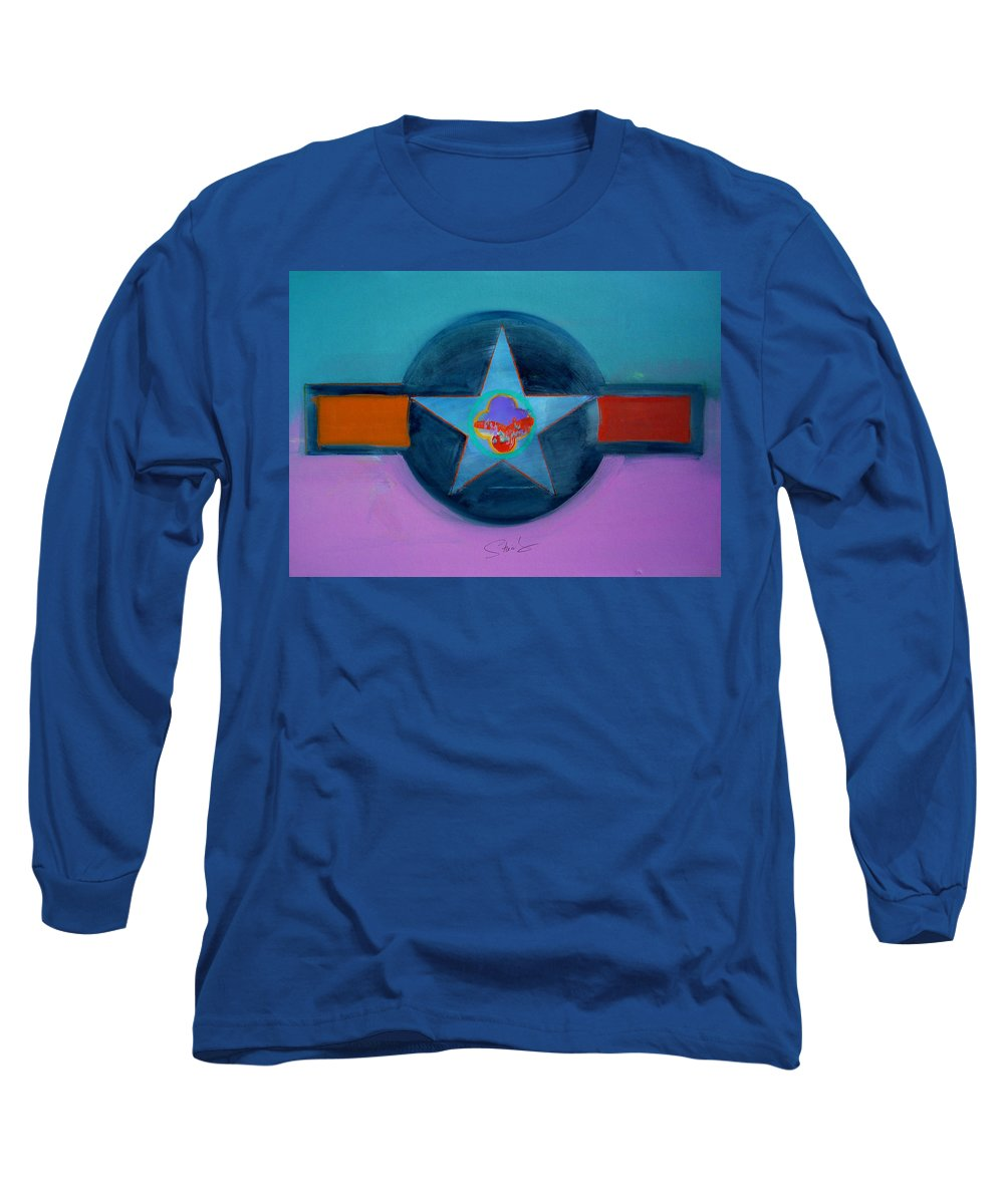 Star Long Sleeve T-Shirt featuring the painting Rust Or Bust by Charles Stuart