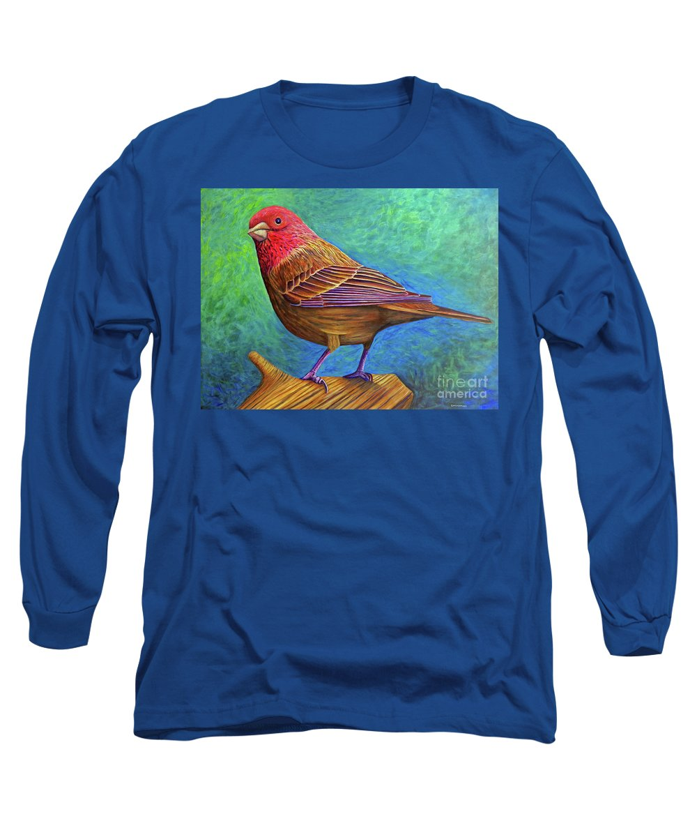 Bird Long Sleeve T-Shirt featuring the painting Sacred Space by Brian Commerford