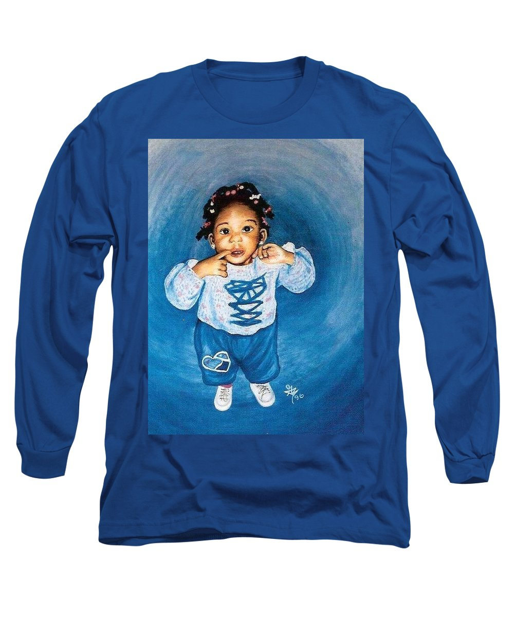 Child Long Sleeve T-Shirt featuring the pastel Sadie by Gale Cochran-Smith