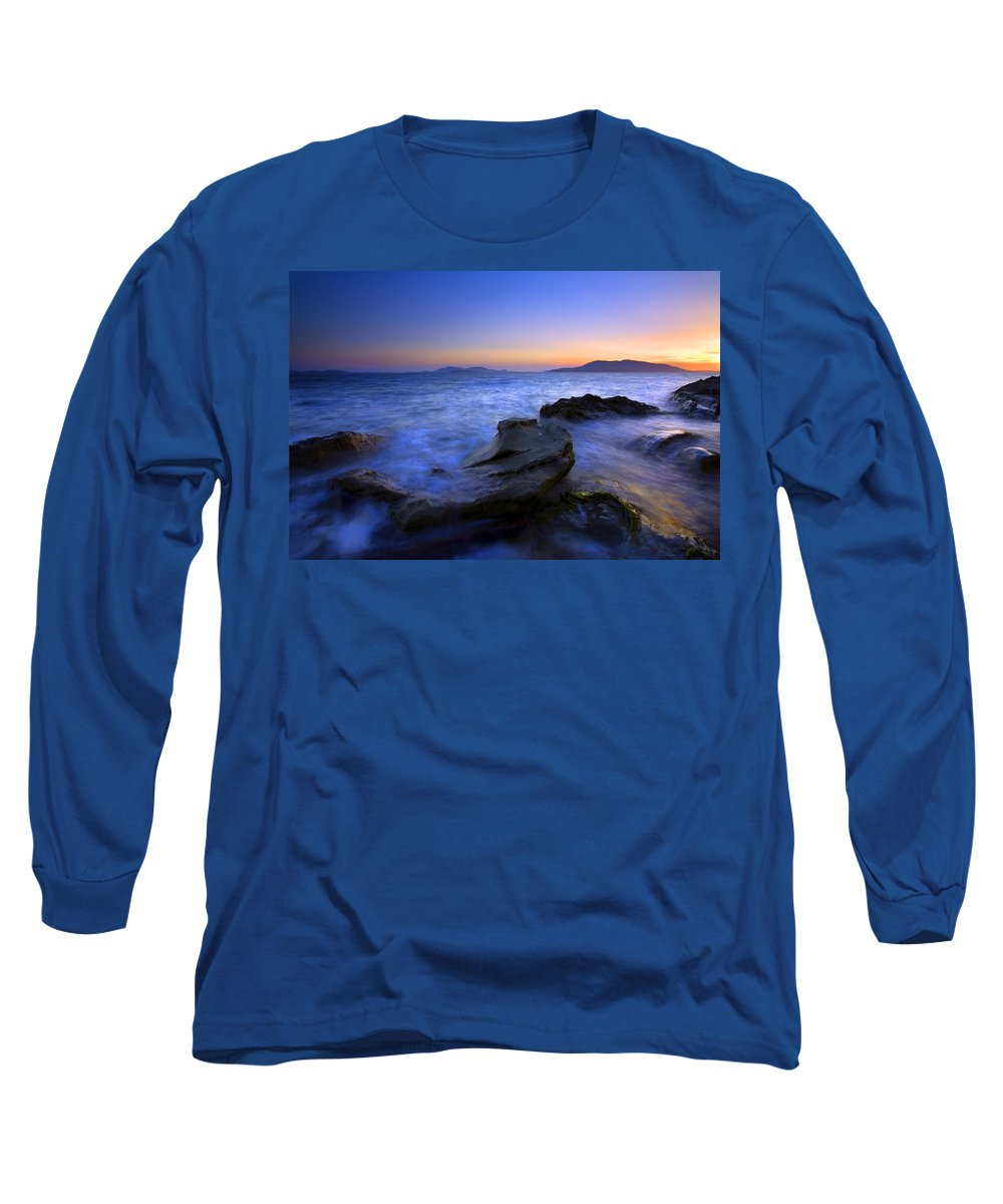 Sunset Long Sleeve T-Shirt featuring the photograph San Juan Sunset by Mike Dawson