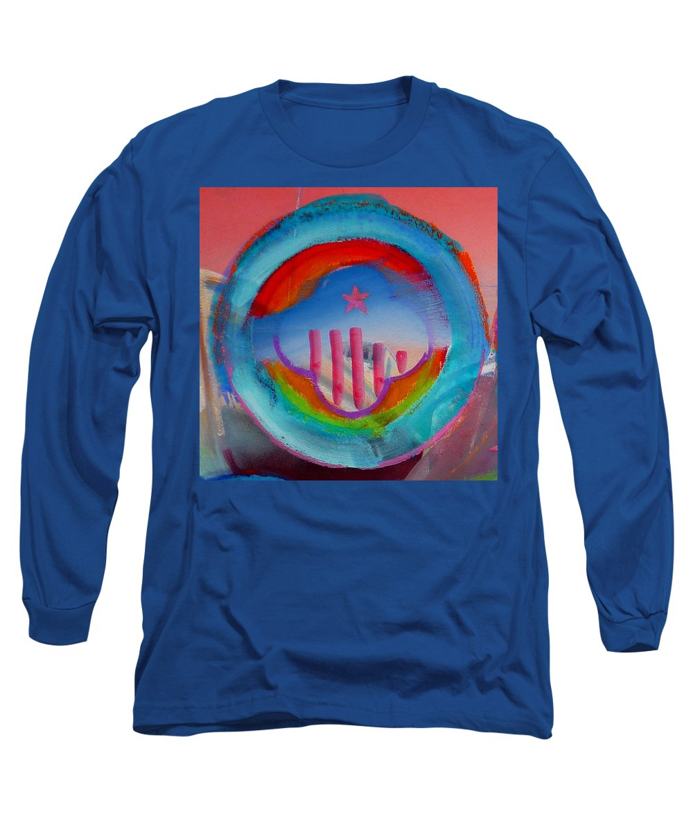Logo Long Sleeve T-Shirt featuring the painting Ship Of State by Charles Stuart