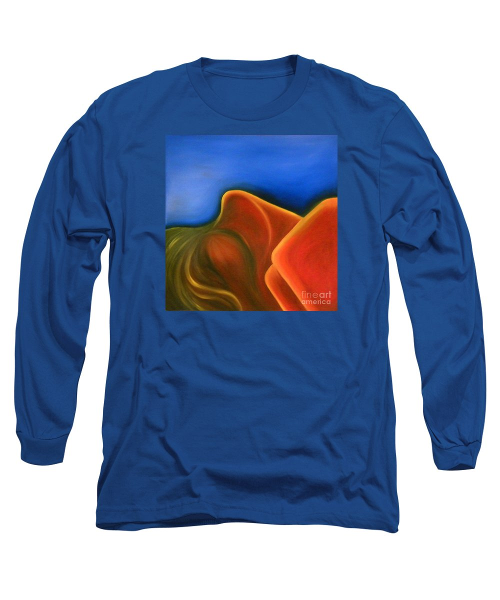 Woman Paintings Long Sleeve T-Shirt featuring the painting Sinuous Curves Iv by Fanny Diaz