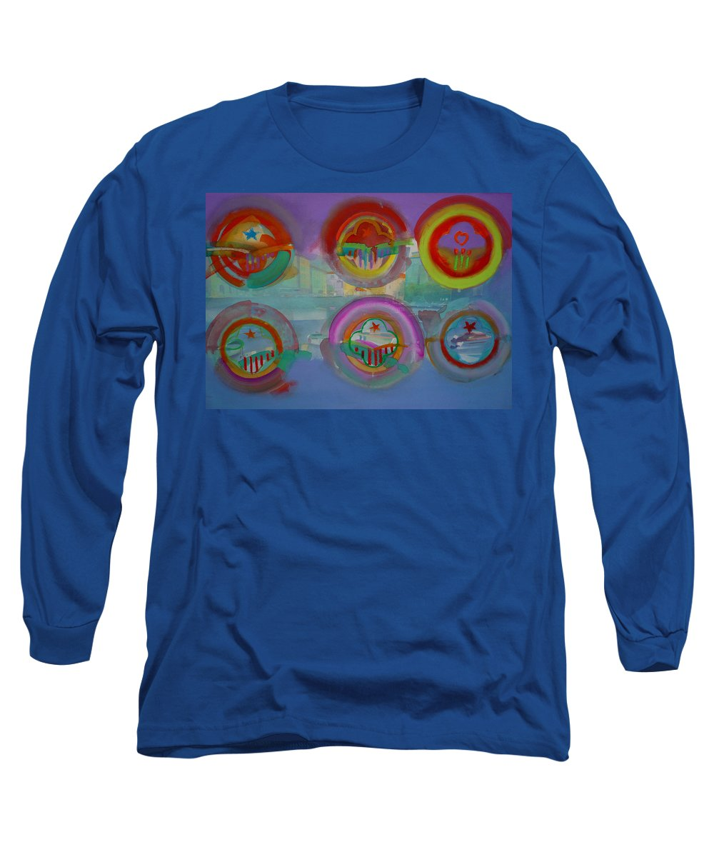 Landscape Long Sleeve T-Shirt featuring the painting Six Visions Of Heaven by Charles Stuart