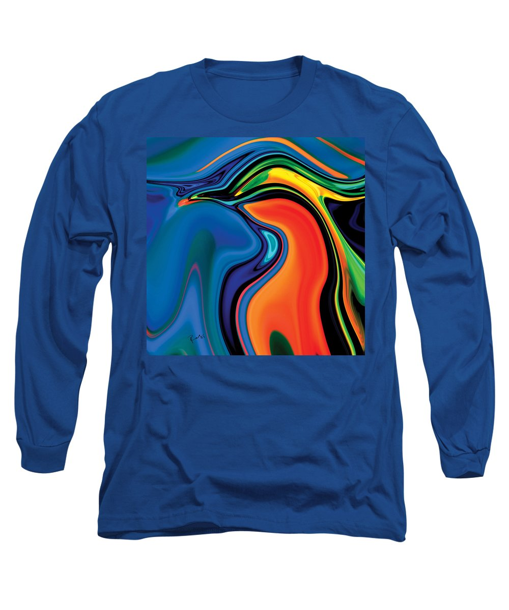 Abstract Long Sleeve T-Shirt featuring the digital art Soul Bird 2 by Rabi Khan