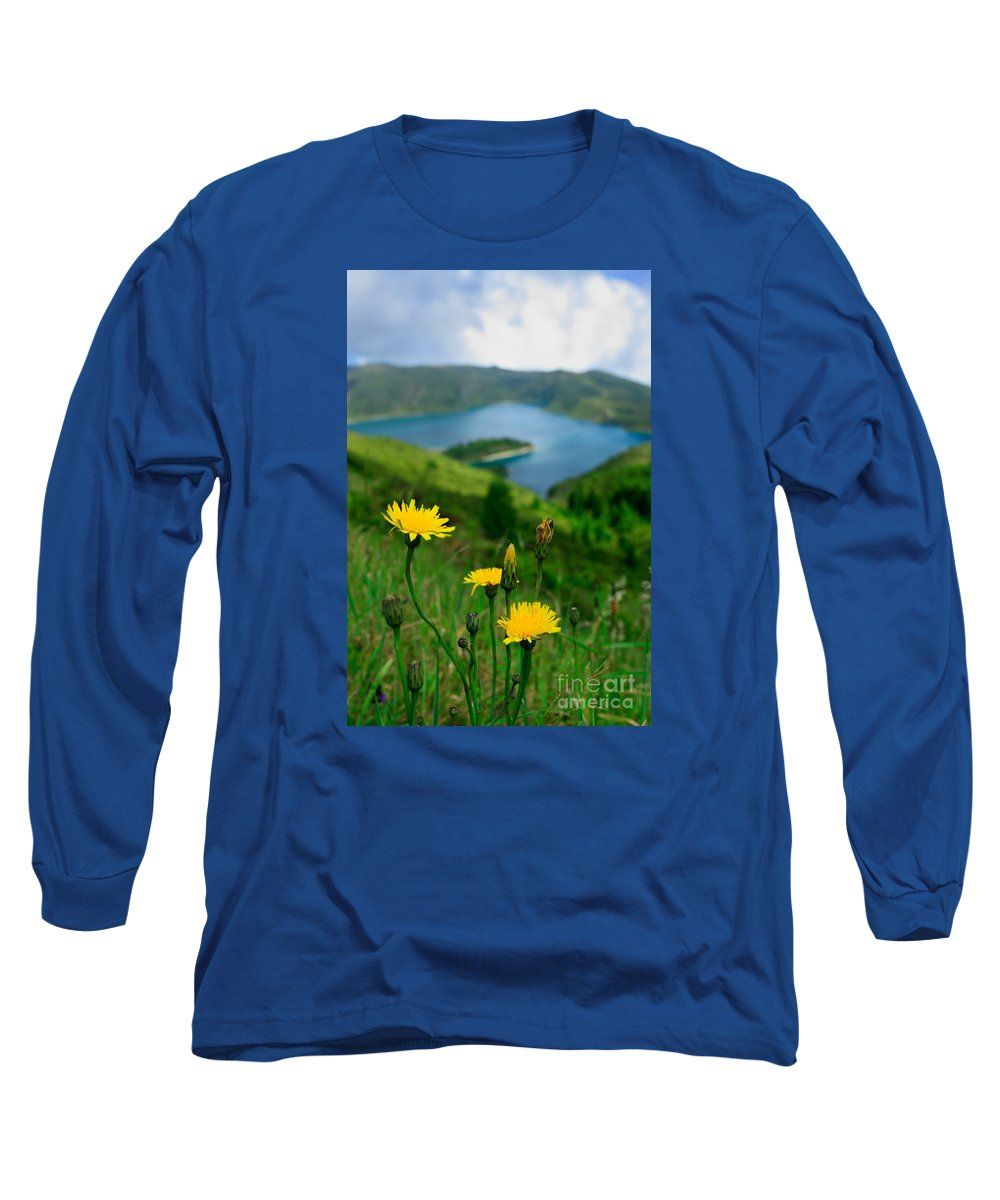 Caldera Long Sleeve T-Shirt featuring the photograph Springtime In Fogo Crater by Gaspar Avila