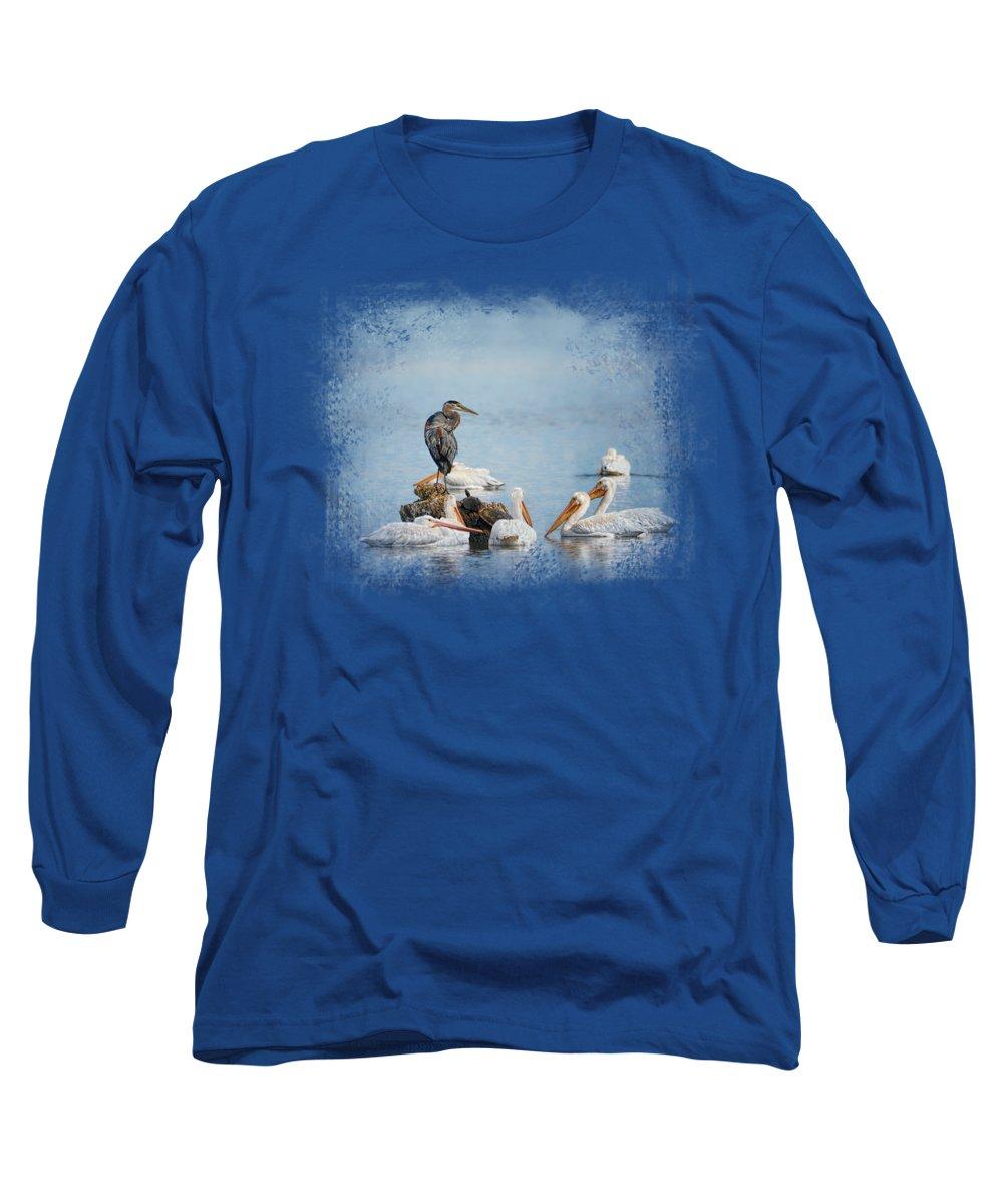 Heron Long Sleeve T-Shirts