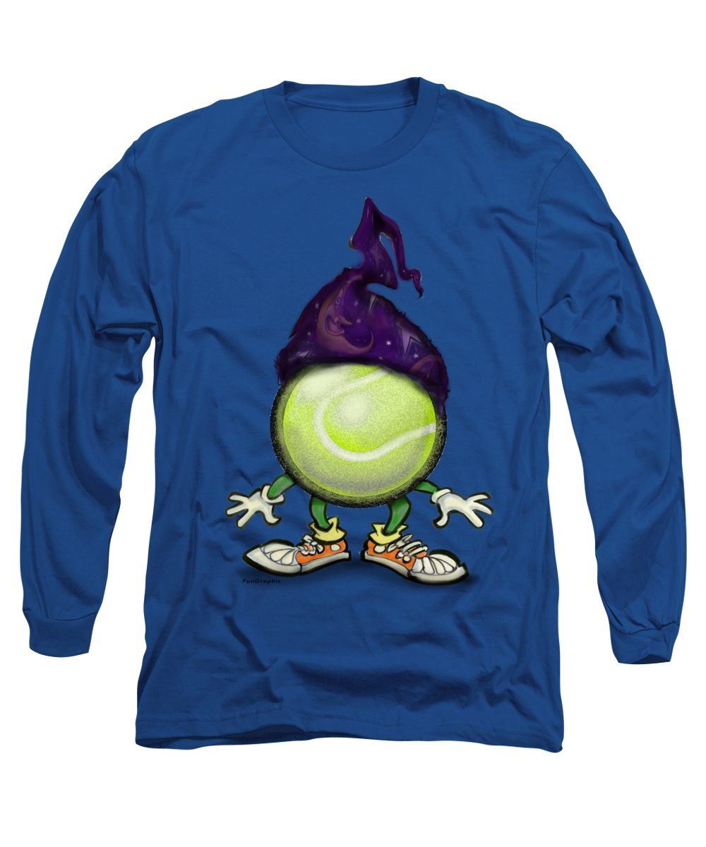 Tennis Long Sleeve T-Shirt featuring the digital art Tennis Wiz by Kevin Middleton