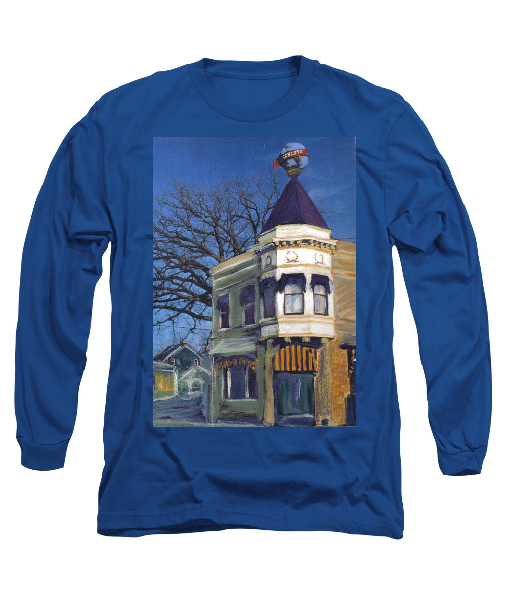 Miexed Media Long Sleeve T-Shirt featuring the mixed media Three Brothers by Anita Burgermeister