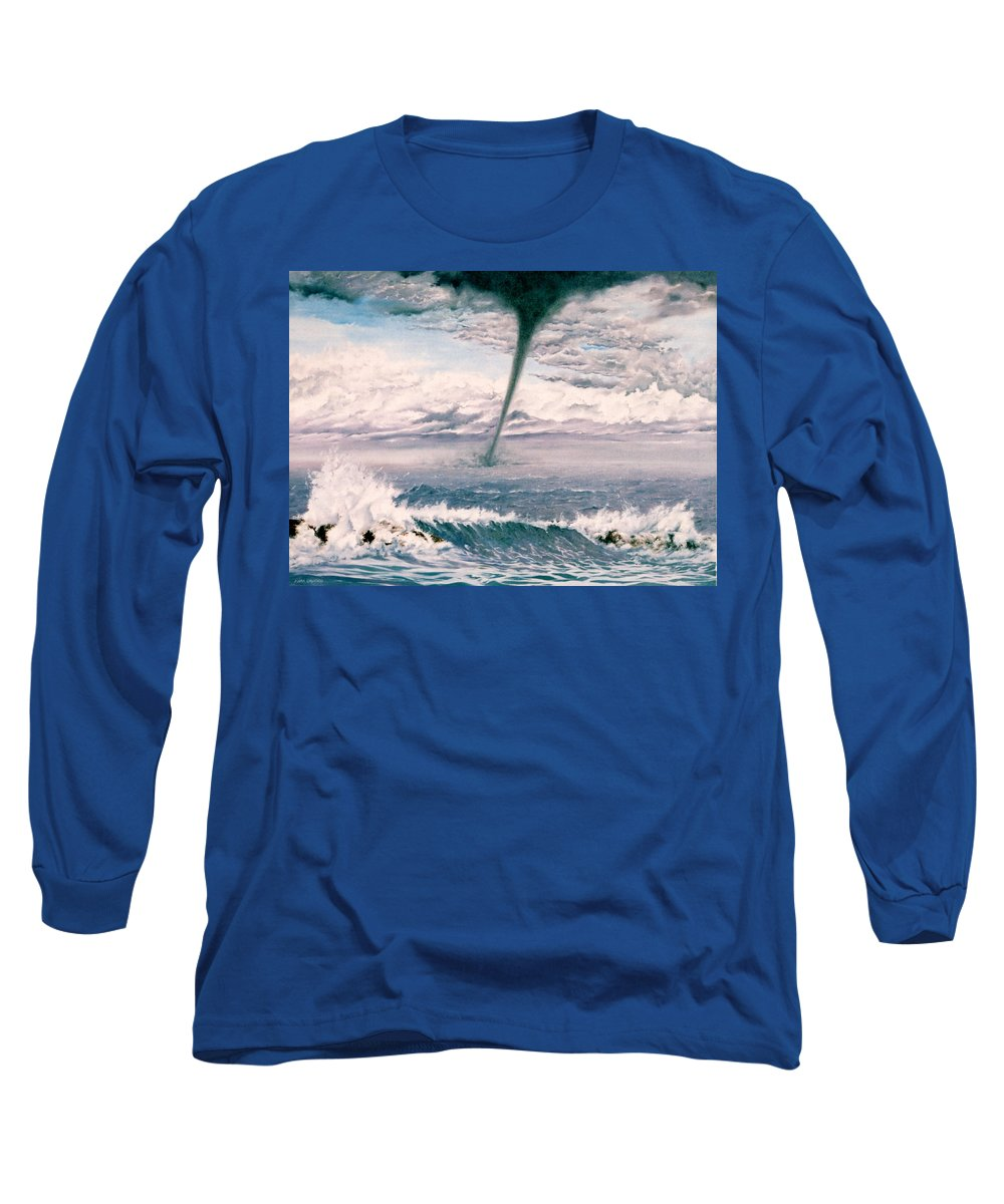 Seascape Long Sleeve T-Shirt featuring the painting Twisted Nature by Mark Cawood