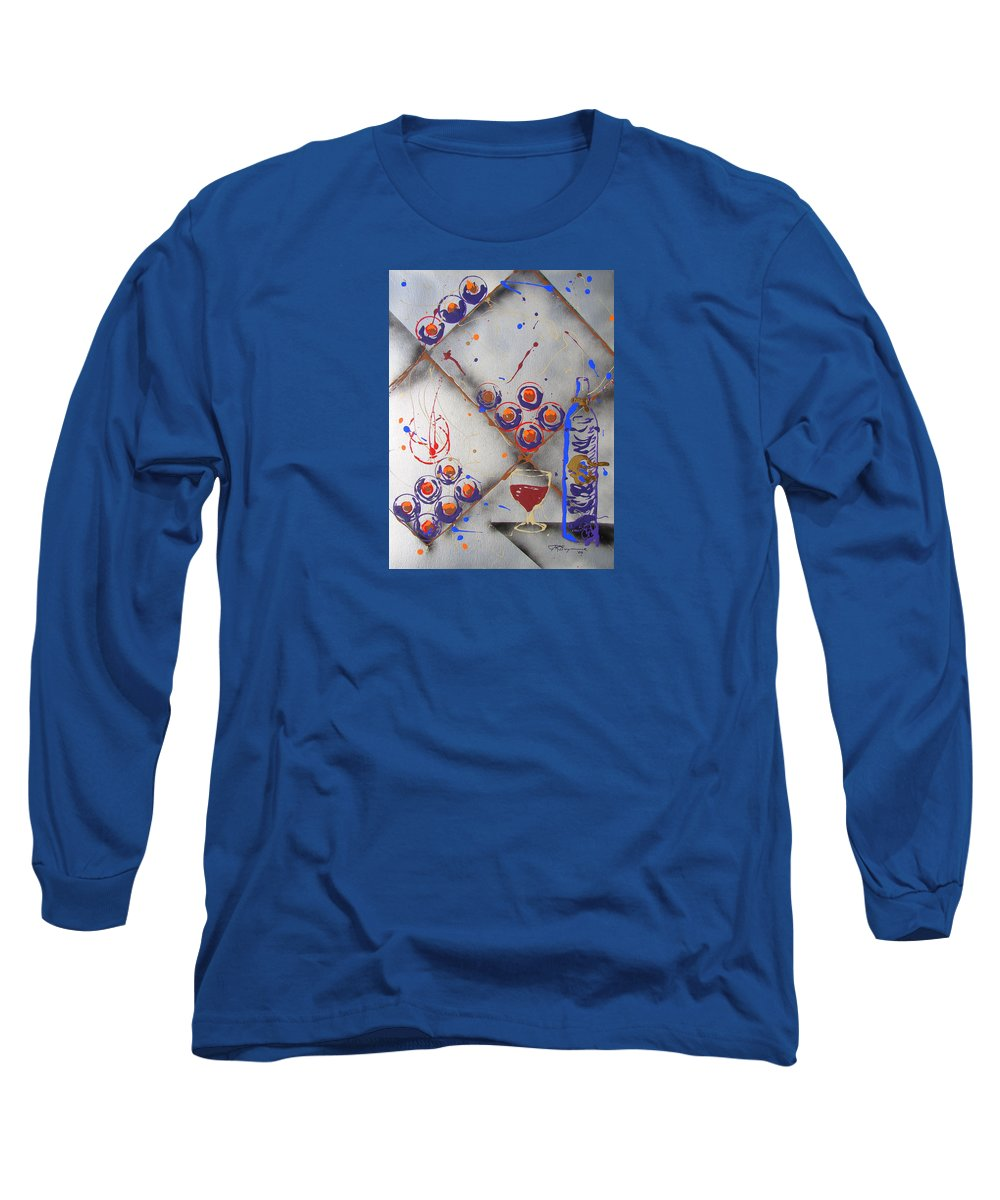 Impressionist Painting Long Sleeve T-Shirt featuring the painting Wine Connoisseur by J R Seymour