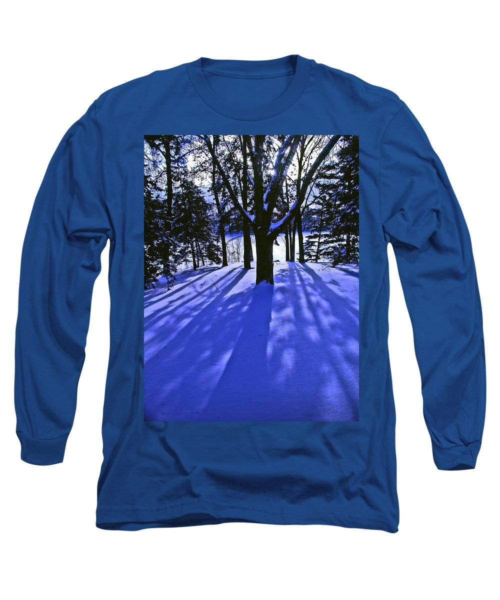 Landscape Long Sleeve T-Shirt featuring the photograph Winter Shadows by Tom Reynen